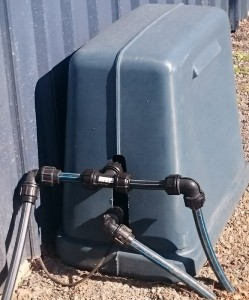 Rotational Moulded LARGE Poly Pump Cover with Base - Blue