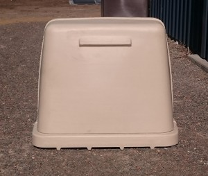 Rotational Moulded LARGE Poly Pump Cover with Base