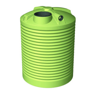 2500 Litre Round Poly Water Tank Tall