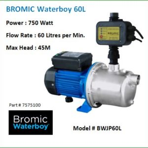 water pumps for your rainwater tank -Bromic 60L Waterboy™ AUTO Jet Pump