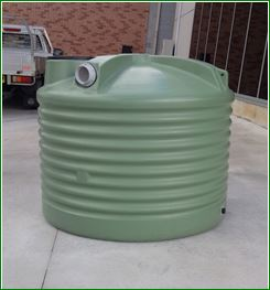 1000 Litre Round Poly Water Tank Squat - round rainwater tanks