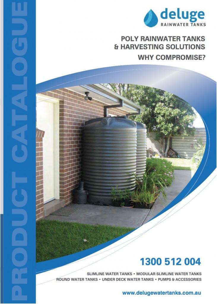 Deluge rainwater tank brochures