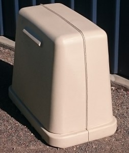 Pump Cover with Base - Cream